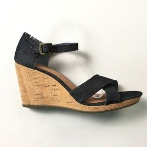 Toms Gray Wedges 10 A65:x01777